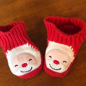 Other - Christmas slippers size 0-3 months